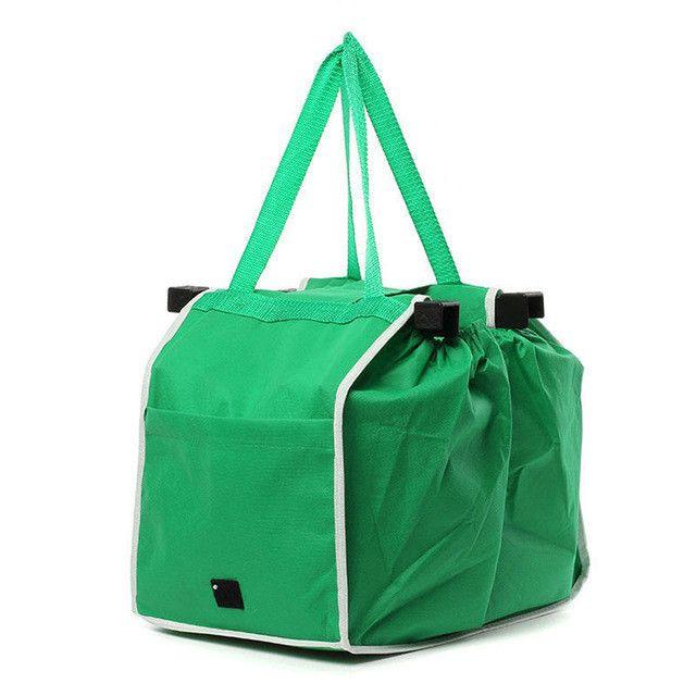 Reusable Clip-on Cart Shopping Bags