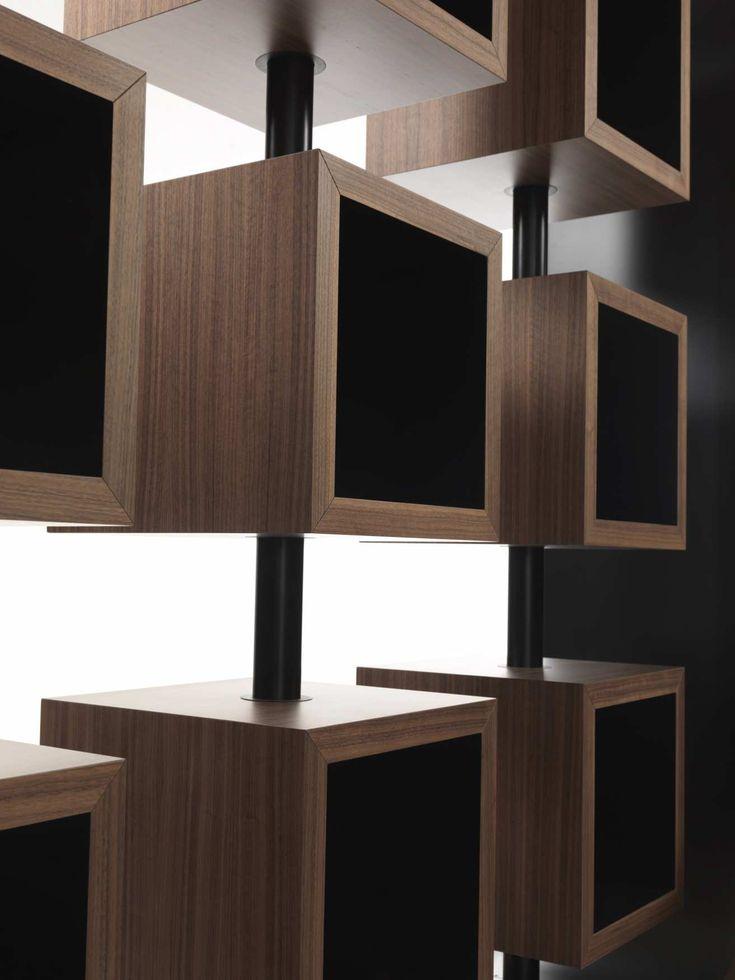 design bookcase curvy turning element detail top center