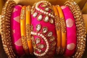 fancy bangles pearls