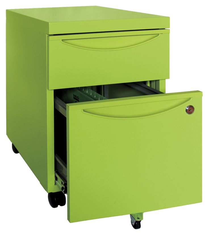 Steelrix 2 Drawer Mobile Pedestal green ... will draw the tones of green from my bedroom to the study beside it ... very nice!