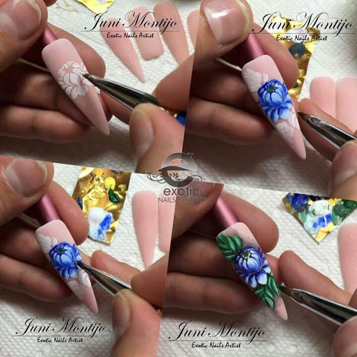 21 Best Zhostovo Nails Images On Pinterest Arabesque Brush