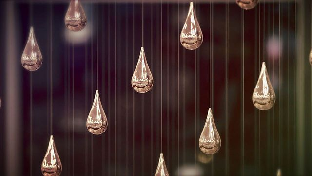 Kinetic Rain by ART + COM by Dezeen. German design collective ART+COM have installed thousands of rising and falling raindrops in Singapore's Changi Airport.