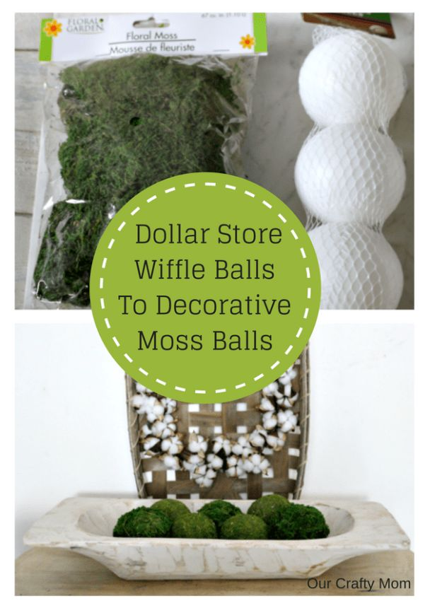 How to Make Gorgeous Moss Balls with Dollar Store Finds