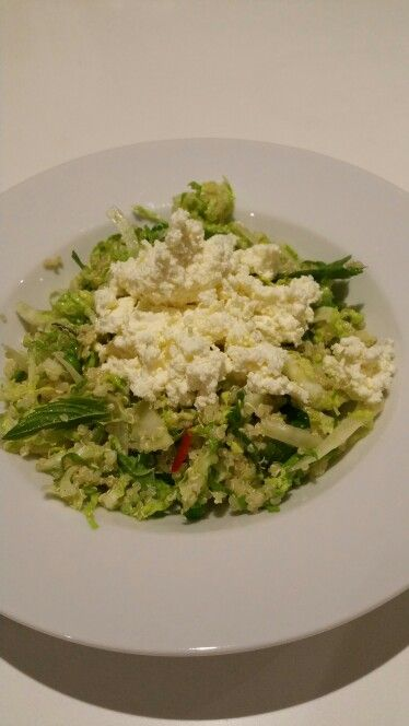 #IQS8WP Week 2 Day 4 Dinner - Quinoa & Fennel Salad with Chilli and Lemon Ricotta