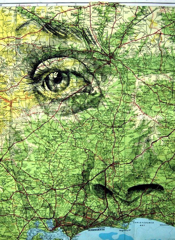 Ed Fairburn Striking Map Portraits 78