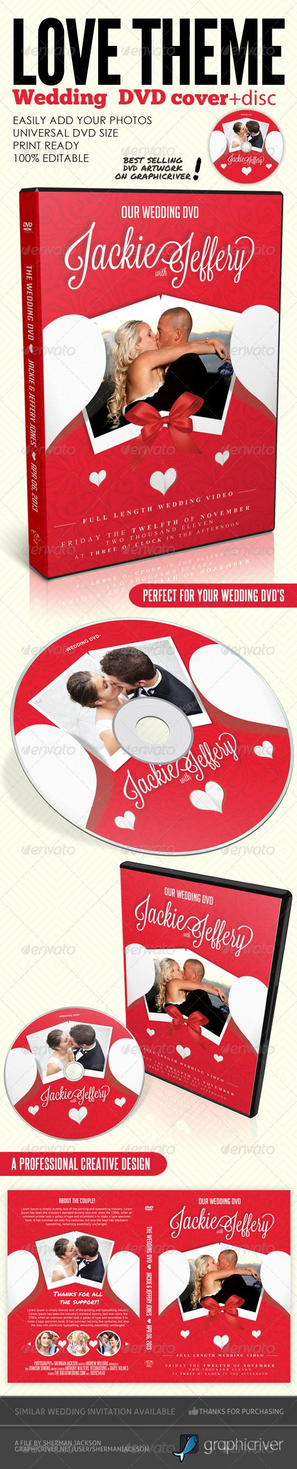 Cd box template download free vector art stock graphics amp images - Love Theme Wedding Dvd Covers Disc Label