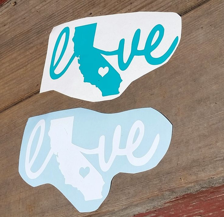 California decal california love state decal love state decal vinyl decal