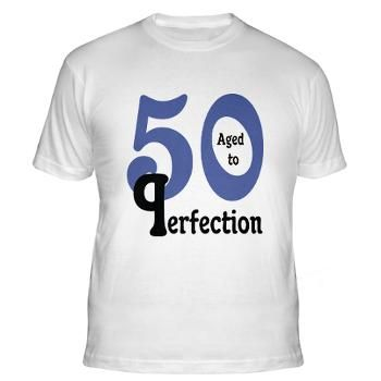 Blue Black Aged to Perfection 50 T-Shirt #circusvalley