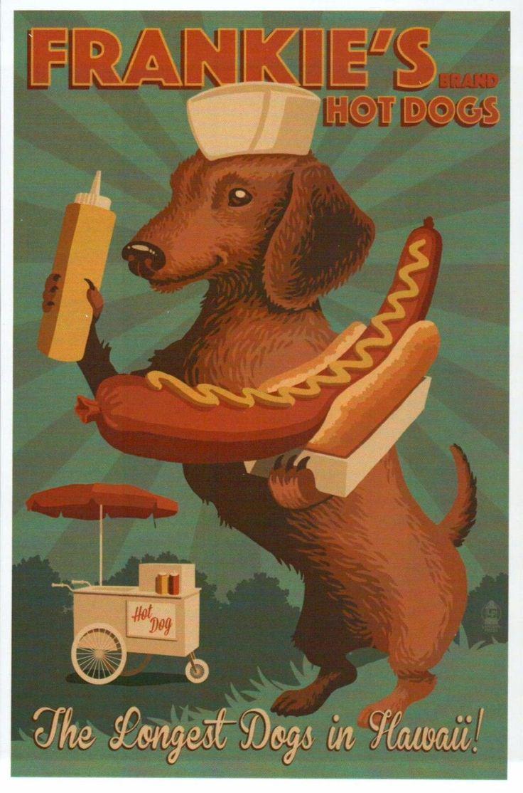 Frankie's Hot Dogs in Hawaii, Dachshund & Hot Dog Cart