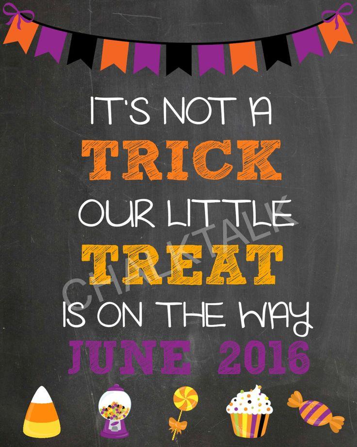 Halloween Pregnancy Announcement Chalkboard - Fall Pregnancy Chalkboard - Our…