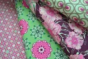 Art gallery range; pink and green selection.