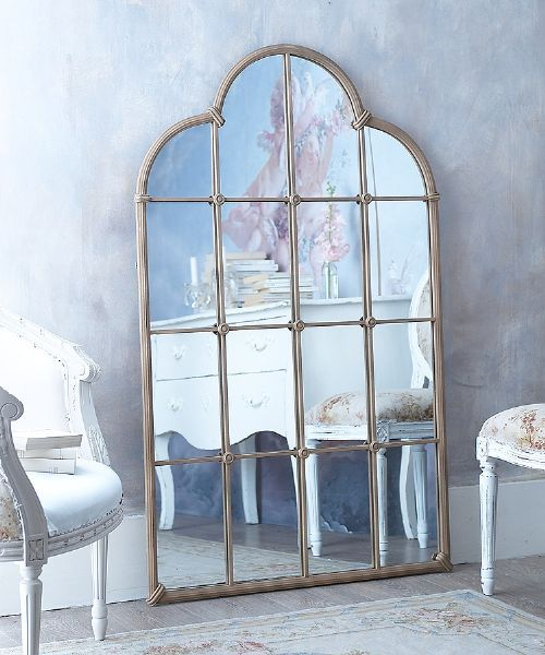 Archtop metal window mirror - £25 off