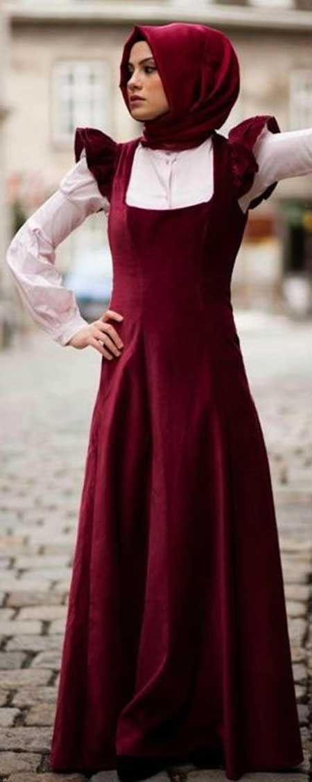 Bu sene çok karşımıza çıkan bordo tonlarındaki kadife kıyafetler...