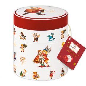 Niederegger Weihnachtsdose mit Marzipan Klassikern Nostalgie-Dose mit Marzipan-Pralinen mit Umhüllung aus Zartbitter-Schokolade