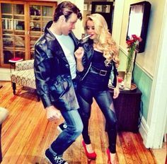 The 19 Best Couples Halloween Costumes of All Time | http://www.hercampus.com/entertainment/19-best-couples-halloween-costumes-all-time | Danny & Sandy from Grease