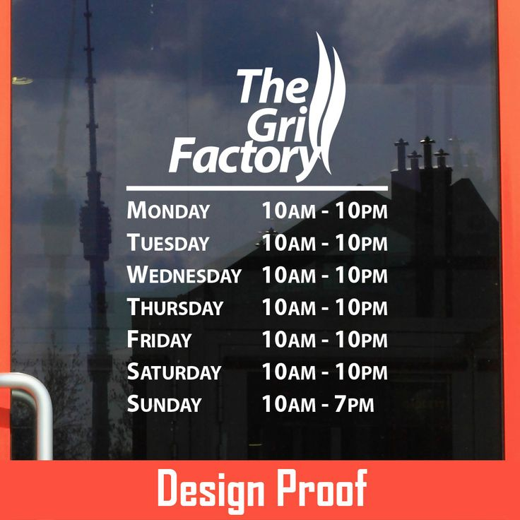 Best Business Hour Gallery Images On Pinterest Custom Vinyl - Custom vinyl decals for business