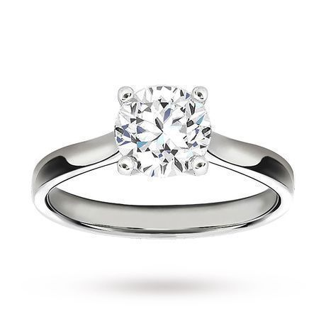 Platinum 1.50 Carat Diamond Solitaire Ring Engagement Ring http://www.weddingheart.co.uk/goldsmiths---engagement-ring.html #solitairering #diamondengagementring