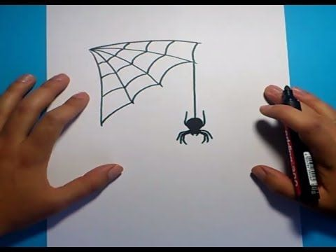 Como dibujar una araña paso a paso 5 | How to draw a spider 5 - YouTube