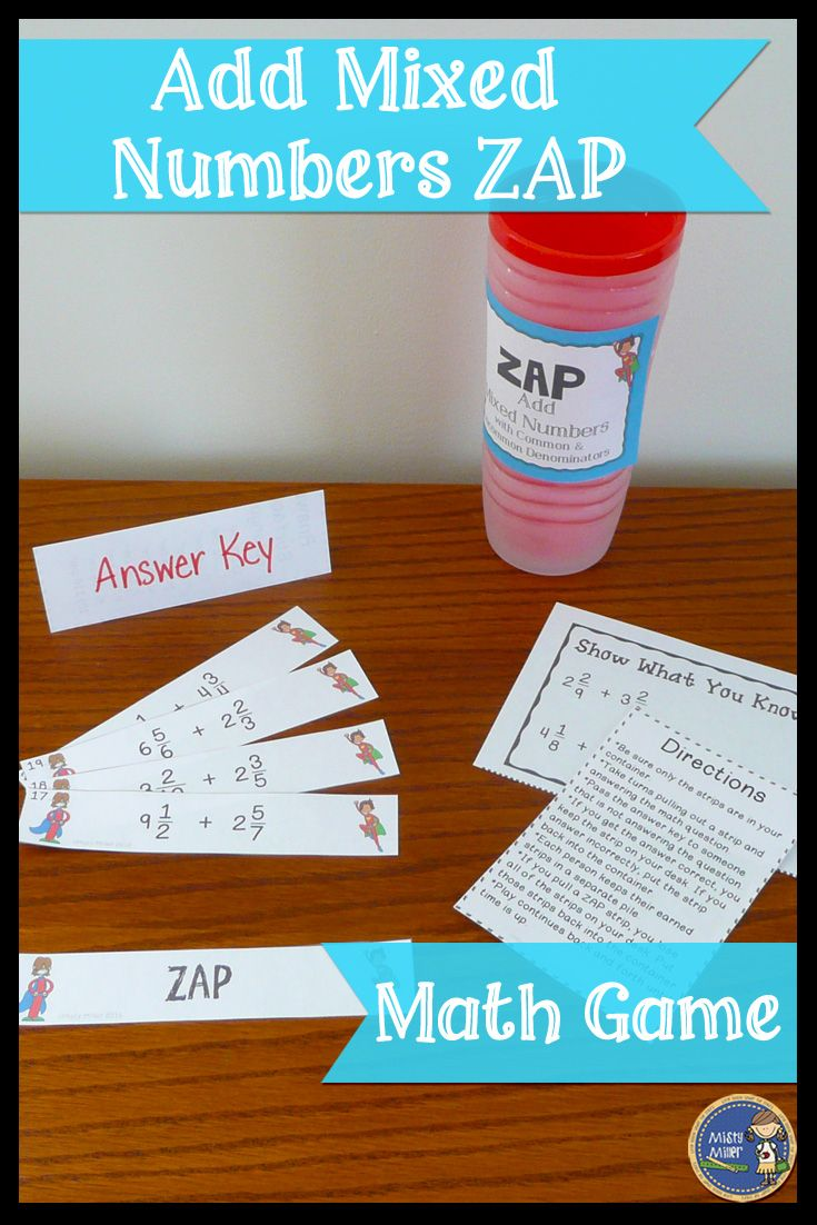 Add Mixed Numbers Zap Engaging Math Game For Your Students Great For Math Math Games Math Adding Mixed Number Adding mixed numbers worksheet answer