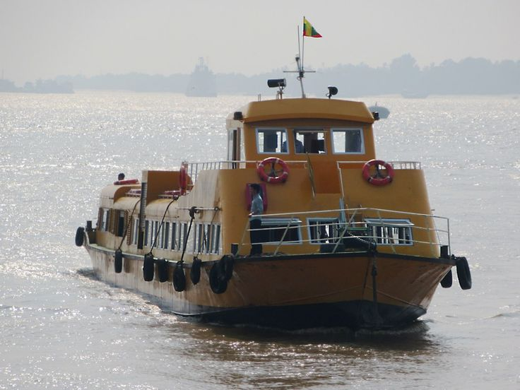 The Yangon Water Bus plies the Yangon (Hlaing) River between Botahtaung and Insein every hour throughout the day, an enjoyable two-hour cruise.