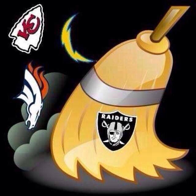 Raiders sweep em away