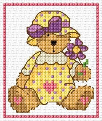 DMC Lesley Teare Teddy chart - download free