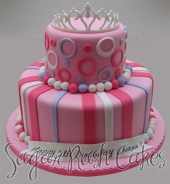 Cute crown cake topper for the girls bday party.