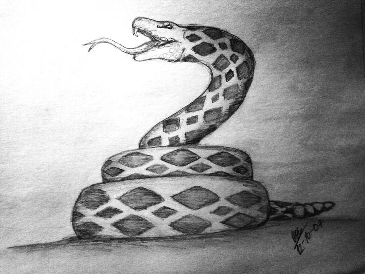 #dibujo #reptil #serpiente #crótalo #cascabel