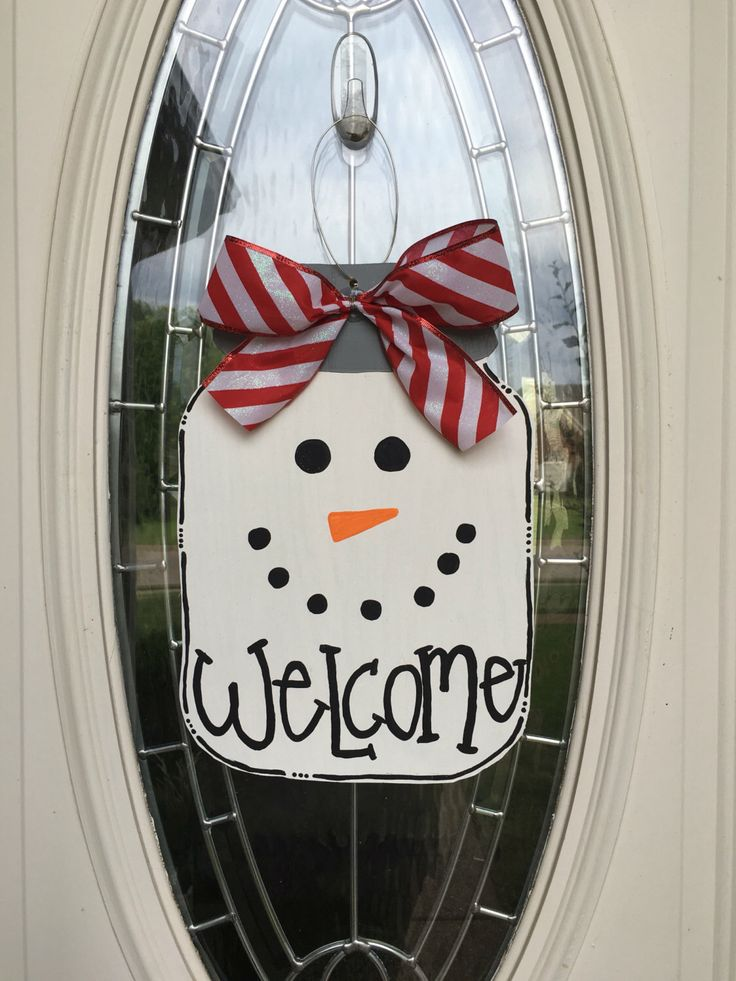 A personal favorite from my Etsy shop https://www.etsy.com/listing/453753200/snowman-mason-jar-door-hanger-christmas