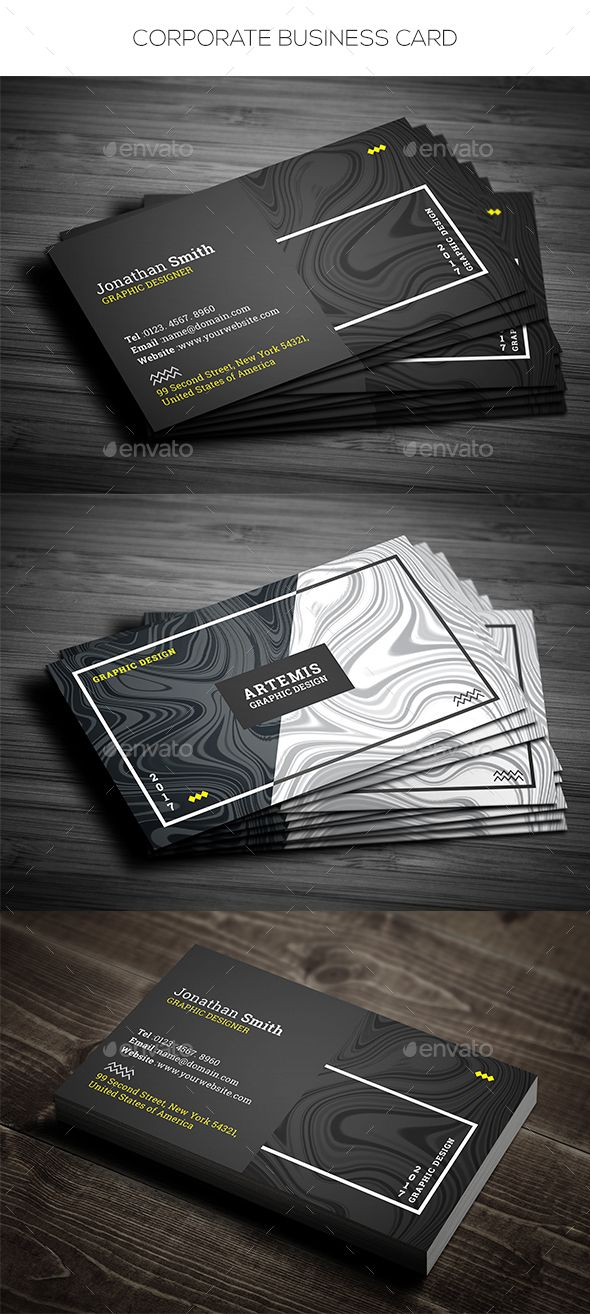 Corporate Business Card - Corporate Business Cards Download here: https://graphicriver.net/item/corporate-business-card/19849924?ref=classicdesignp
