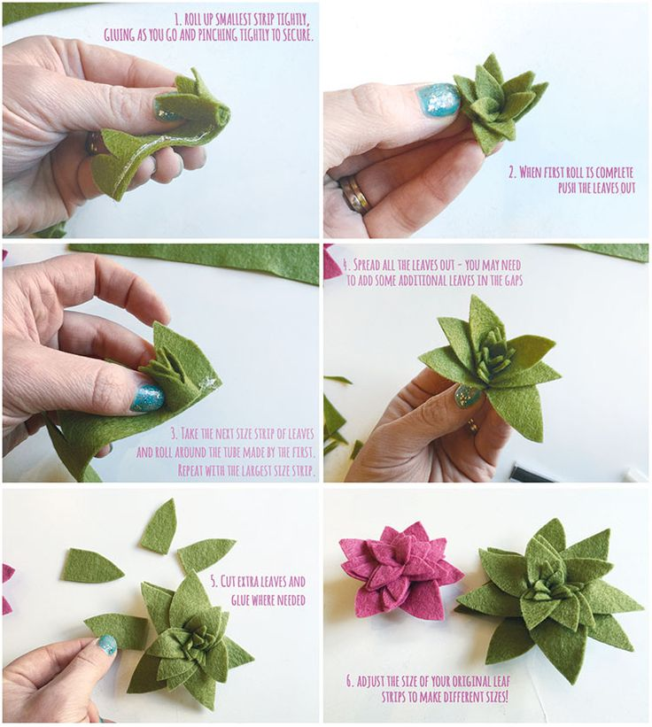 Guest Tutorial: The Make Arcade – Felt Succulents