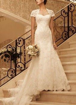 Emily Fields Lace Wedding Dress. Casablanca Bridal - Beaded Lace Over Satin Gown. Pretty Little Liars Bridal, Fashion, Dresses. Shop it http://www.pradux.com/casablanca-bridal-beaded-lace-over-satin-gown-26855?q=s15