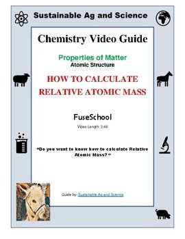 Best 25 relative atomic mass ideas on pinterest structure of chemistry how to calculate relative atomic mass fuseschool video guide urtaz Gallery
