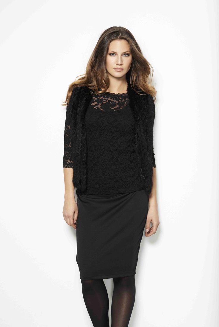 soyaconcept - top - skirt - laces - waistcoat - blouse