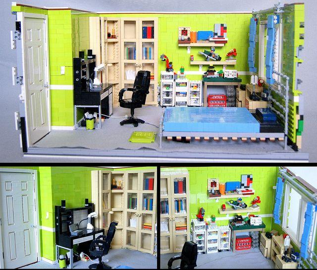 Bedroom vs. LEGO Bedroom by quý, via Flickr