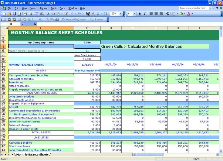 11 best Simple Balance Sheet Template By ex-Deloitte Consultants - accounting forms in excel