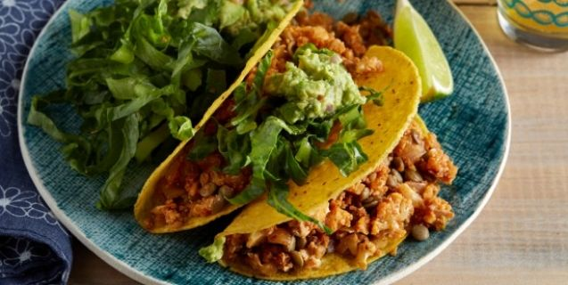 Cauliflower Lentil Tacos. via Want to Live to 100? This Man Tells You How | Vegan Food | Living | PETA