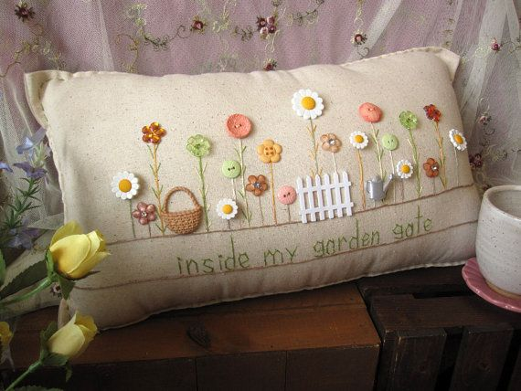 Inside My Garden Gate Pillow (Cottage Style)