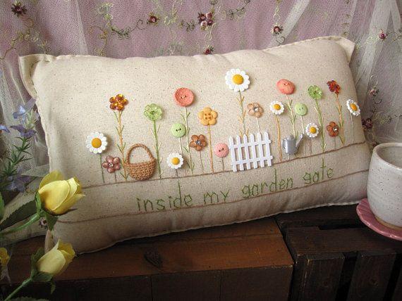 Dentro de mi almohada de puerta de jardín estilo por PillowCottage Más