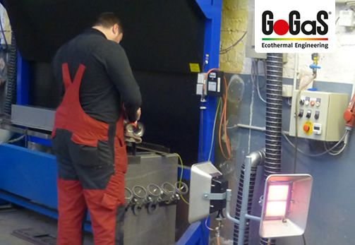 Mobile heating units bring the heat straight where it`s needed, to your working place. For further Information visit www.gogas.com or www. gas-infrared-heating.com