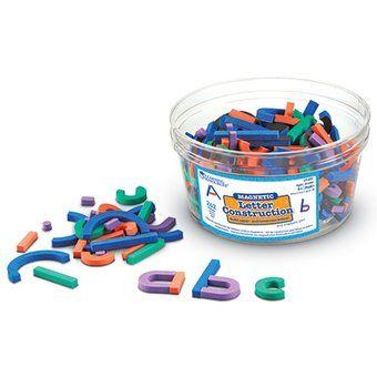 Construcción Letras Magnéticas Learning Resources --Multicolor