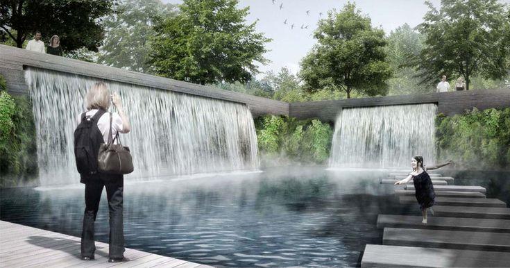 Cascata, © geskes.hack Architetti del paesaggio, VIC Ponti e ingegneria civile, pistoni architetti Ripke