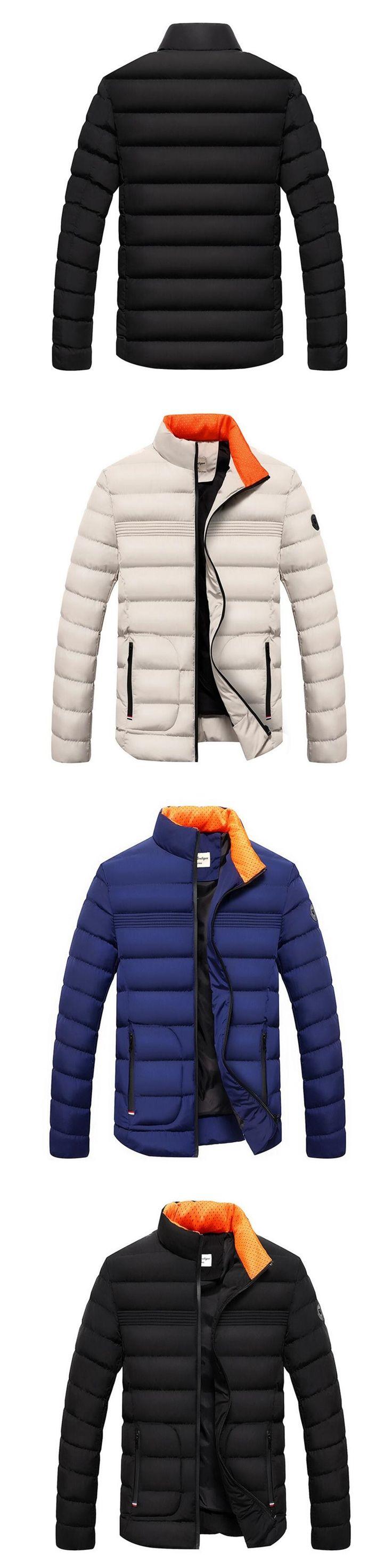 Brand Clothing Winter Jacket Men Casual Parka Jacket Thick Men Solid Black Warm Men's Coats and Jackets Fashion overcoats coat