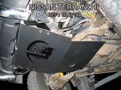 BLINDAGE AVANT N4 8MM POUR NISSAN TERRANO 2 ET FORD MAVERICK
