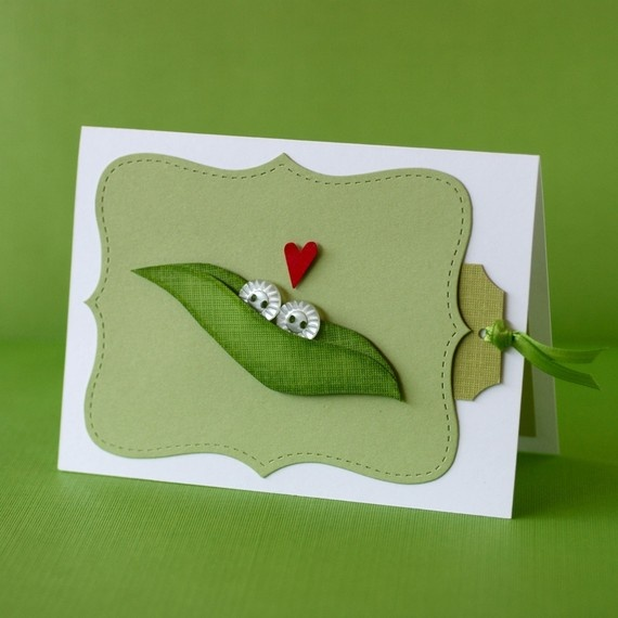 Cute card- Two peas in a pod for an anniversary-                                                                                                                                                      More