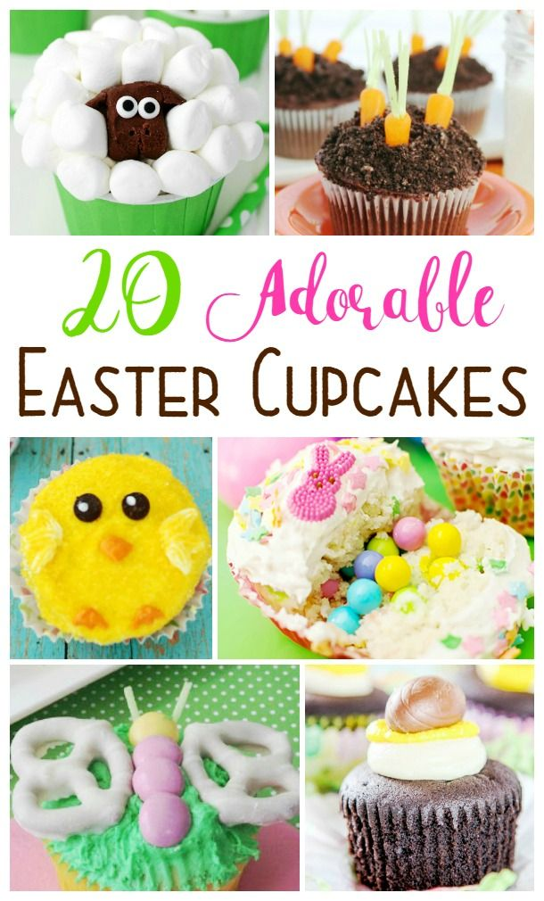 This collection of 20 Easter cupcakes is complied from some of the most adorable cupcakes around.  Start your holiday baking here!