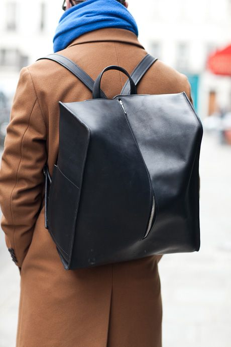 black | leather | backpack #fashion & #style