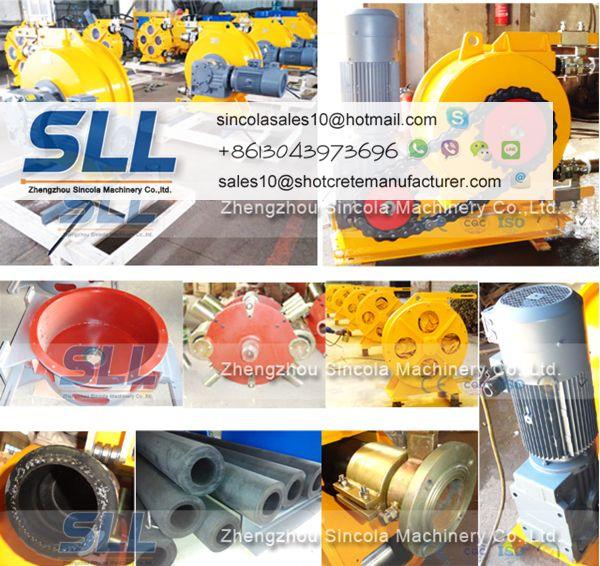 Industrial hose pump/peristaltic pump