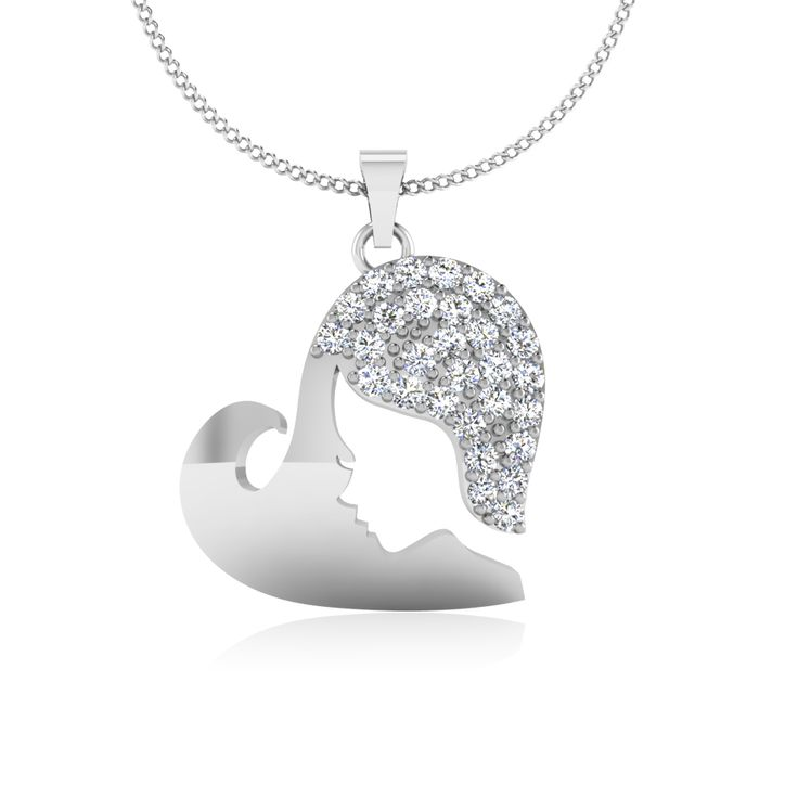 Beautiful Solid 14K gold and Conflict Free #diamonds pendant in minimalist and dainty style. #Mother #Pendant