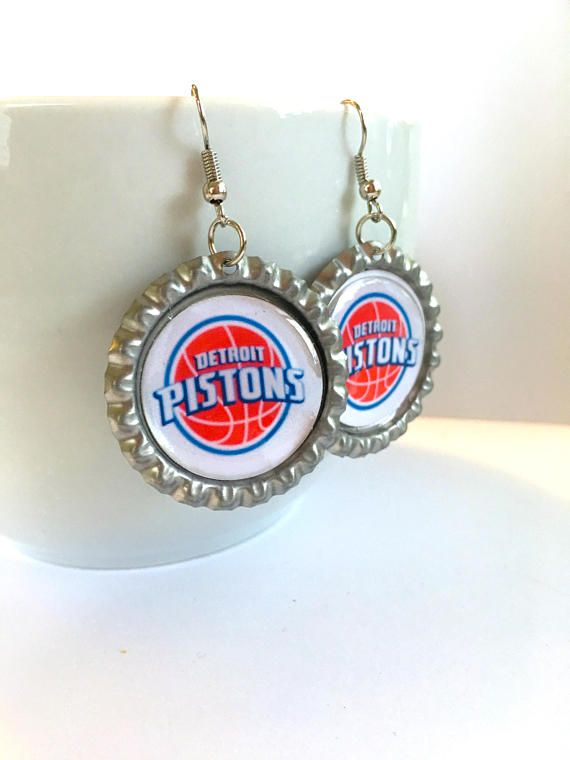 Detroit PISTONS Basketball Earrings